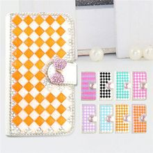 Fashion PU Leather Full Body Crystal Bling Diamond Phone Case for Blackberry 9860