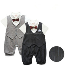 New stylish baby bubble clothes two piece sets gentleman newbaby baby romper