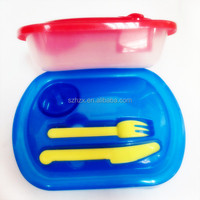 clear rectangular plastic food container and lid for retail