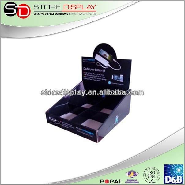 Corrugated Counter Display with Protection Card for Mobile power supply from Alibaba Store