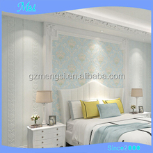 Popular Carved Non-woven 3d Stereoscopic Luxury Wall paper Decoration