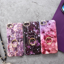 new arrival 3 design rhinestone soft TPU imd ring stand marble phone case for iphone 6 6 plus 7 7 plus x