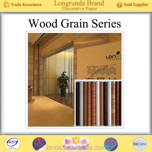 Longrunda Top Supplier for Furniture surface Wood grain decorative paper borders