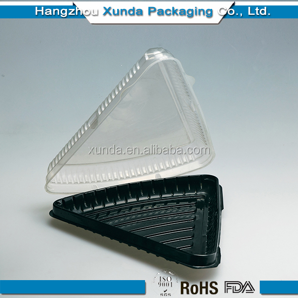 Eco friendly clear triangle sandwich plastic box from manufacturer