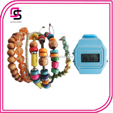 Jewelry Set Promotional Cheap Stock 1.5usd Silicone Smart Led Watch