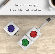 Intelligent Cube Design Super Fast Universal Mini Portable Charging Electric Multi Plug & USB Power Extension Plugs Sockets