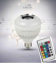 Wireless Bluetooth RGB E27 LED Lamp 100-240V Smart LED Music Bulb Stage Party Light