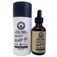 Beard Oil - Conditioner - 100% Natural - Certified Organic - Softens Coarse Hair - Great, Light, Manly Scent - Argan Oil -585131