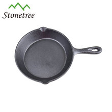 Cast iron frying pan skillet 16cm with pouring lips