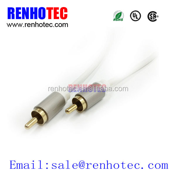 Male to Male into 1 Connector 2 RCA Audio Cable