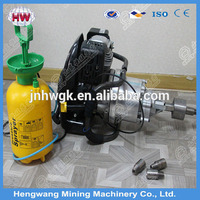 Durable quanlity coal Backpack gold rock drill/hand held rock drilling equipment