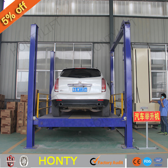china supplier used four post hydraulic electric car lifts motorcycle wash equipment lift platform for sale