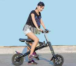 Chinese supply folding 2 wheel electric bicycle Samsung lithium battery mini bike smart scooter