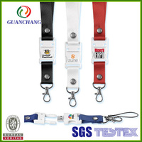 Promotional Custom neck Polyester Lanyards with USB Flash Drive