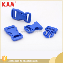 Wholesale customized color size blue china plastic side release cheap custom belt buckles for backpack sport bag