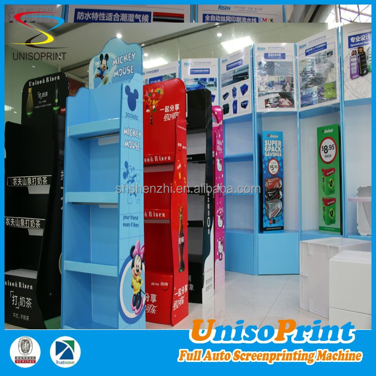 CUSTOM PP Plastic Corrugated shop fitting trade show stands shop display doll