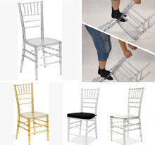 ZY23330 Cheap but strong transparente resin chiavari chair for wedding