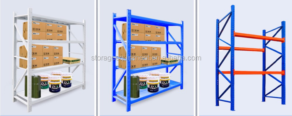 2017 HOT selling Medium duty Warehouse rack&steel storage rack