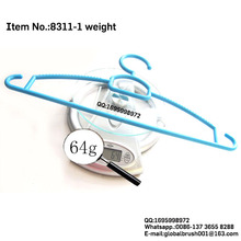 HQ8311 for adult clothes drying assorted color plastic hanger