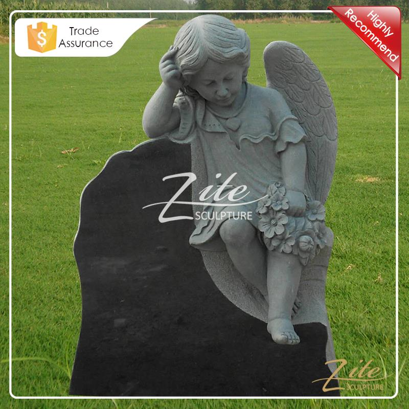 Hand Carved Angel cemetery decorations
