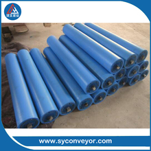 HDPE conveyor idler rollers different with steel idlers