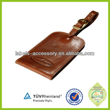 Customized logo embossed leather luggage labels baggage tags