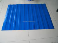 Ocean blue(RAL5002) color Corrugated steel roofing sheet