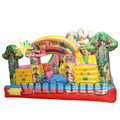commercial cute bear bouncy house popular carton inflatable slide