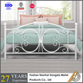 White Queen wrought iron bed furniture