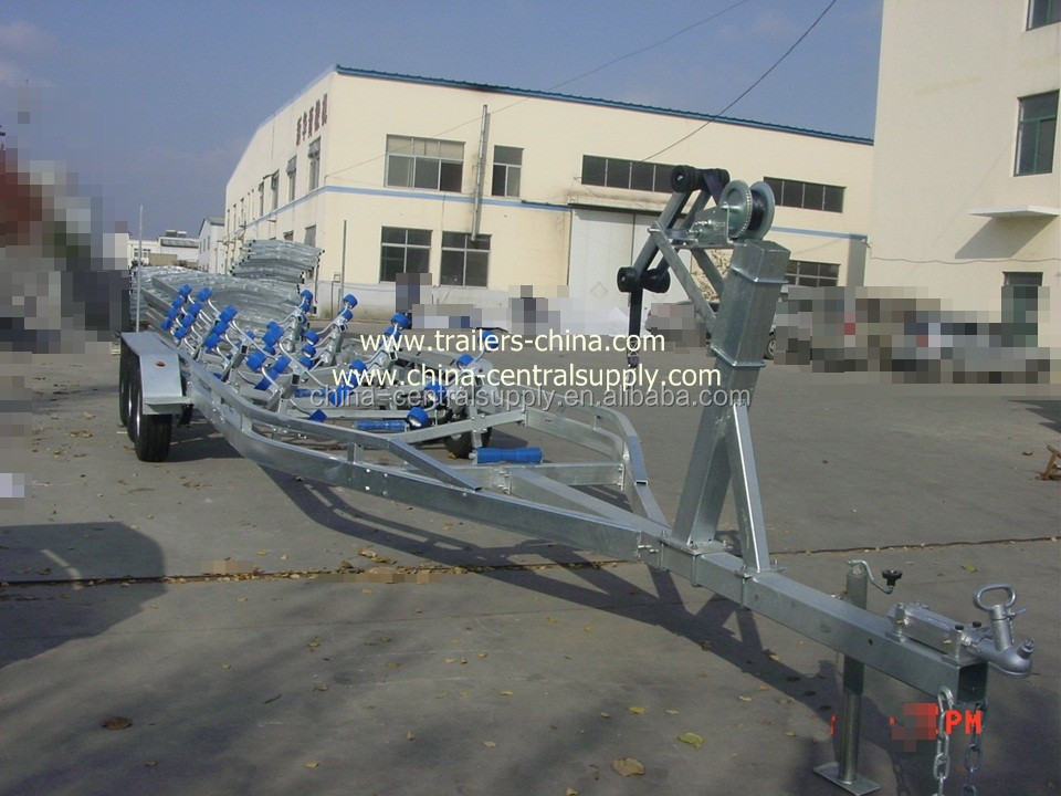Tandem axle 10.5m/11m/12m boat trailer with roller system BCT1050