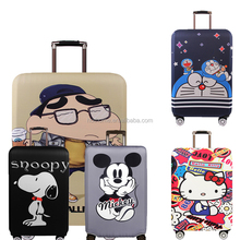 Factory Promotional customized printed suitcase bag neoprene luggage cover