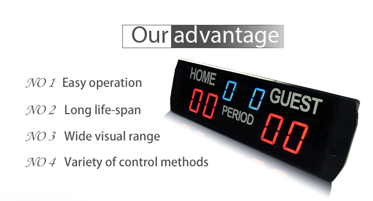 [Ganxin]6 digits wireless remote control electronic scoreboard led football score counter