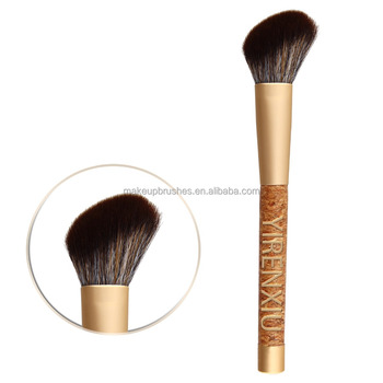 Oak Handle Cosmetic Brush,Blush Brush for Makeup,Make up Brush Professional