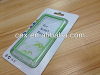 For Samsung Galaxy Note 3 TPU Frame Bumper Case Cover Clear/Apple Green