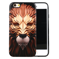 Top quality 3D print two in one TPU and PC phone case for iphone 6