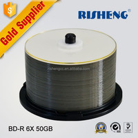 RISHENG blamk bd-r 50 gb white inkjet printable/bd 50gb factory wholesale/blue ray blank disc 50gb 6x 50cake package