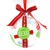 Promotional good quality clear plastic christmas balls