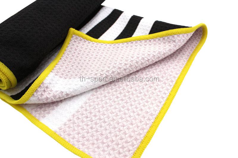 Tamanho todo o logotipo da impressão do oem golf toalhas de microfibra