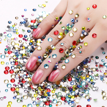 Manufacture high quality flat crystal AB non hot fix rhinestone trial small order crystal rhinestone nail art