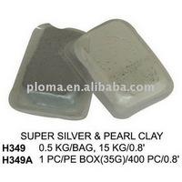 H349~H349A SUPER SILVER & PEARL CLAY