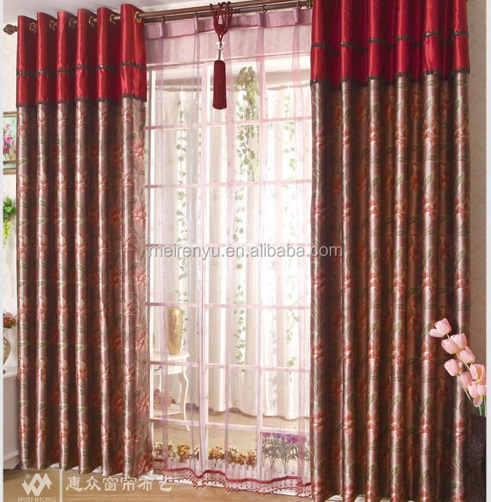 Floral curtain design and curtains for manufactured home for Flowery curtains design