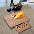 New and High Quality Bamboo Cheese Board & cheese knife set Bamboo cheese cutting board