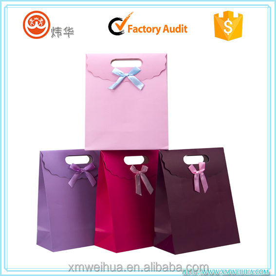 custom brown kraft paper bags with flat handle for shopping and food bags
