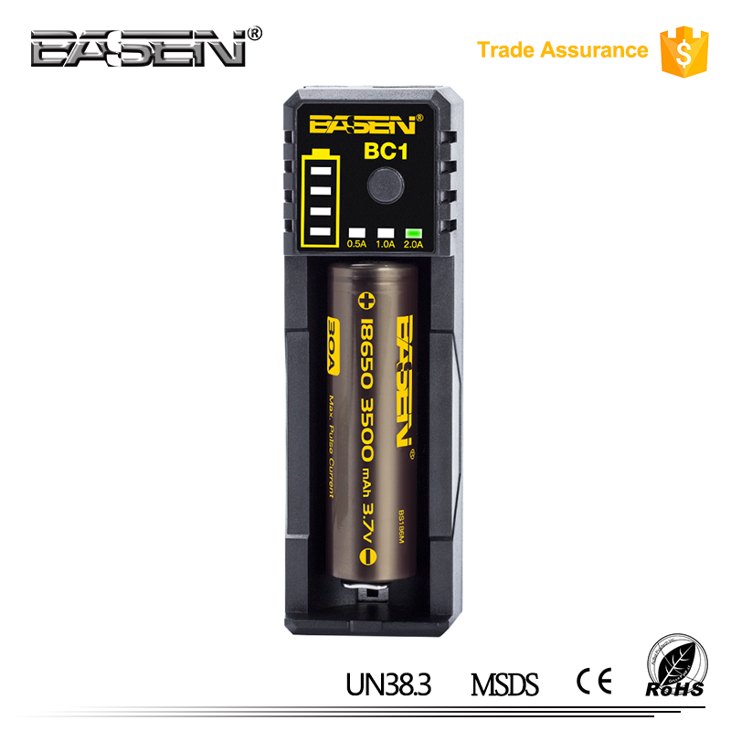 BASEN bc1 18650 2A li ion battery charger 2a Fast 18650 Portable dual micor usb car mobile solar charger