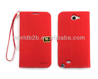 New Luxury Flip Style PU Leather Case Cover For Samsung Galaxy Note2 N7100 ,inside with TPU case Cover