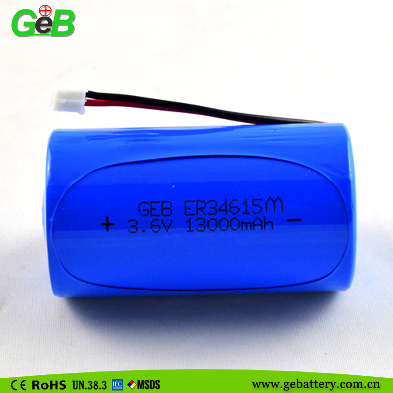 HIgh quality Dry battery Lisocl2 Lithium Battery ER 34615M battery 13000mah
