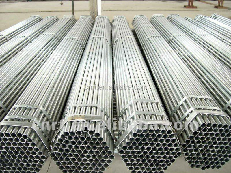 Galvanized screwed tube with plastic cups