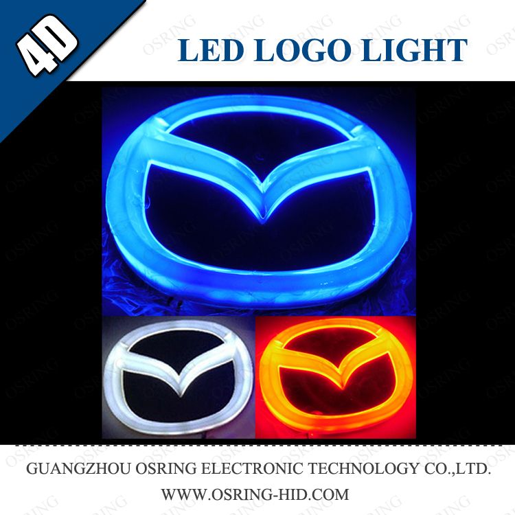 OSRING 3d led logo for mazda led auto logo car door led logo laser light