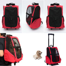 Pet carrier bag/Dog Cat Trolley Bag/ travel trolley cat bag