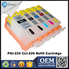 PGI-225 CLI-226 inkjet printer ink tank for Canon MG5120 MG5220 MG6120 refillable ink cartridge with chip